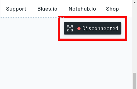 Notehub.io: Web Console Button