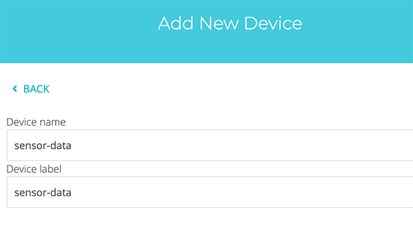 provide ubidots device name and label